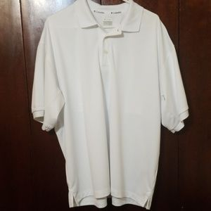 Columbia PFG White Polo Shirt